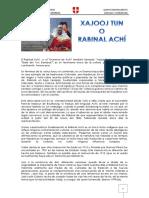 Rabinal Achí Documento