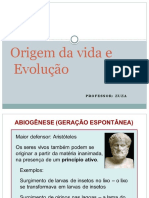 Evolução – Origem Da Vida e Evolução