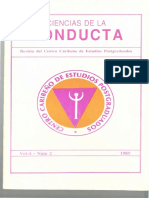 Revista Ciencias de La Conducta 1989