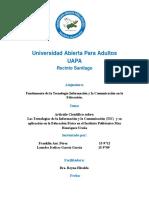Articulo Cientifico Las Tecnologías de La Información y La Comunicación (TIC)