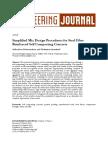 Simplified Mix Design Procedures for Steel Fibre Reinforced Self Compacting Concrete