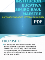 Modelo Pedagógico CRM 2016