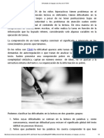 Dificultades en Lenguaje y Escritura en El TDAH