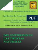 EMPIRISMO en las ciencias naturales