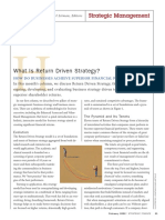 What is Return Driven Strategy