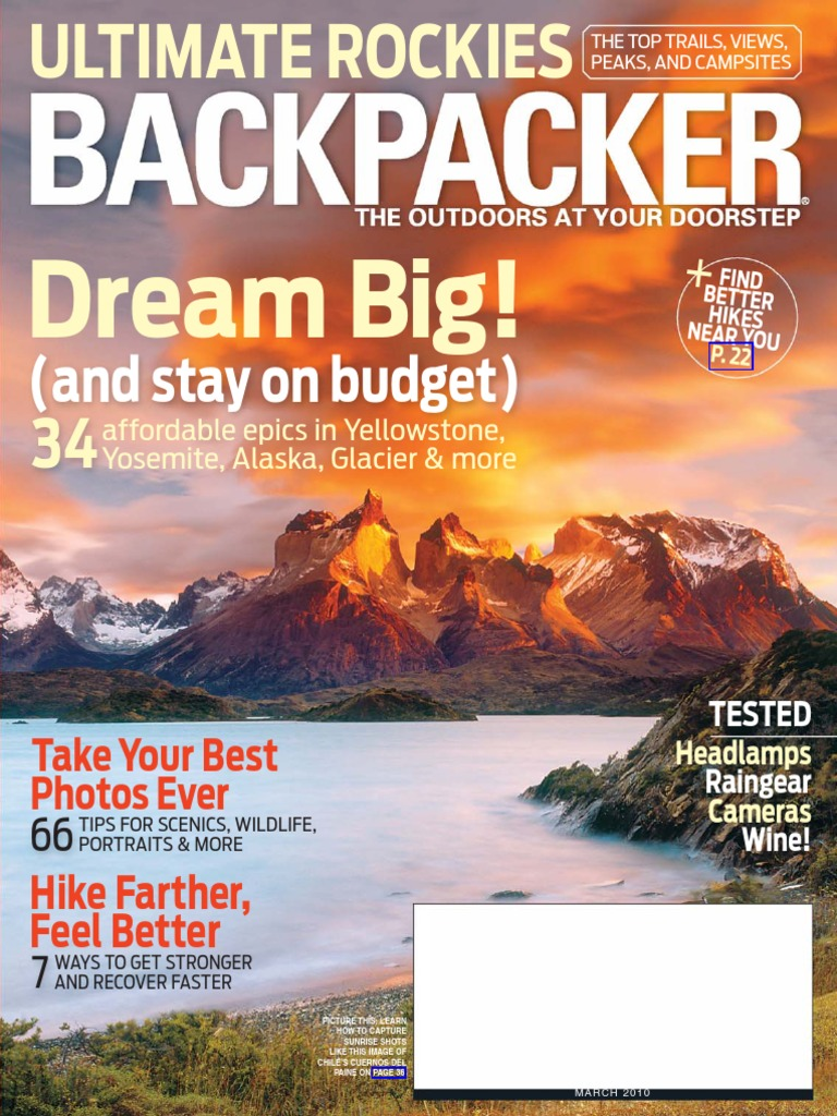 Backpacker March 2010 Fuel Economy In Automobiles