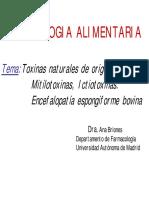 Curso Toxicología Alimentaria 11 - Toxinas Naturales de Origen Animal