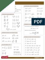 Formulario de álgebra
