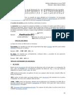 Tipos de Archivo y Extensiones