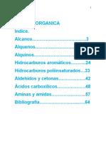 Quimica organica y su importancia en distintos aspectos biologicos y metabolicos
