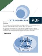 CATÁLOGO DE MICROSCOPIOS