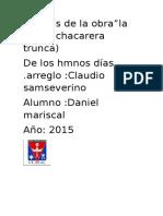 Analisis de La Obra La Vieja de Hmnos Dias