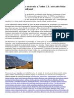 Ayudas del gobierno aumento a Foster U.S. mercado Solar por Shushmul Maheshwari