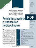 Accidentes anestésicos y reanimacion cardiopulmonar