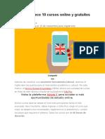 El SENA Ofrece 10 Cursos Online y Gratuitos de Inglés