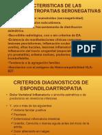 Caracteristicas de Las Espondiloartropatias Seronegativas