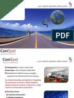 Company Presentation - ConSyst ICS