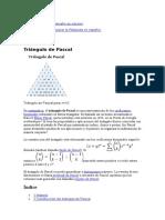 Triángulo de Pascal