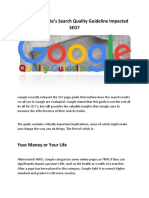 How Has Google's Search Quality Guideline Impacted SEO?