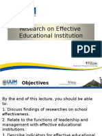 lecture 6  on research on effective educational institution  2
