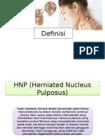 Definisi HNP Dan Spondiloarthrosis
