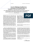 Development of a Multistage Classifier for a Monitoring System of Cell Activity Based on Imaging of Chromosomal Dynamics