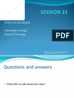 Types of Leverage Operating Leverage Fin