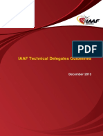 IAAF Technical Delegates Guidelines