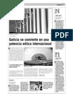 Galicia se convierte en una potencia eólica internacional