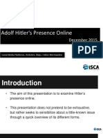Adolf Hitler Presence Online Dec 2015