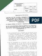 Resolución No. 040 de 2016 Dttf