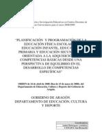 Planificación y programación de la EF Escolar