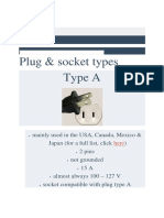 Plug & Socket Types - World Standards