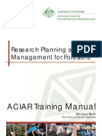 Research Planning and Management for Foresters