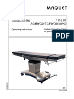 Maquet Operating Table Betaclassic - User Manual