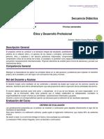 secuencia didactica etica y desarrollo profesional  2