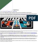 Conociendo Metasploit – Parte I – Exploit Basico