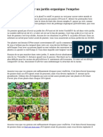 Façons de cultiver un jardin organique l'emprise