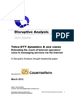 White Paper Telco OTT Dynamics and Use Cases