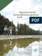 Bayerns beste Gesundheitsangebote 2016