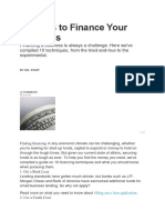 10 Ways to Finance Your Business