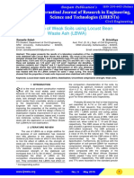 StabiStabilization of Weak Soils Using Locust Beanlization of Weak Soils Using Locust Bean