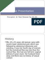 Case Presentation Endometriosis 1