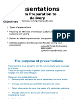 Presentation From Preparation to Delivery