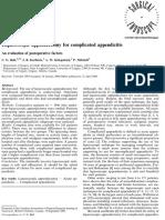 Laparoscopic Appendectomy Postoperative