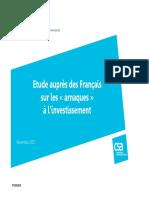 """Etude auprès des Français sur les """"arnaques"""" à l'investissement"""