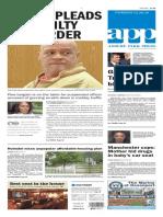Asbury Park Press front page Thursday, Jan. 28 2016