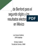 Ley de Benford Elecciones Mexico