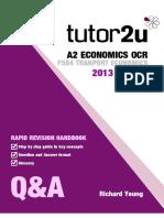 QA F584 Transport Economics 2013