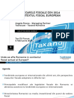 Tax EU 2014_Prezentare Taxhouse-Taxand Romania_fiscalitate Romaneasca in Context European_feb 2014